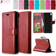 "Leather For Sony Xperia XA X A F3111 F3113 F3115 F3112 Dual 5.0"" Flip Phone Leather Cover XperiaXA F 3111 3112 3113 3115 Case"
