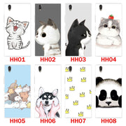 Lenovo P70 Case,Silicon Look Cat Painting Soft TPU Back Cover For Lenovo P70t Phone Protect Case Shell