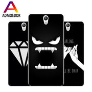 Lenovo Vibe S1 Case,Silicon Black Graffiti Painting Soft TPU Back Cover For Lenovo Vibe S1 Lite Phone Fitted Case Shell