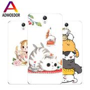 Lenovo Vibe S1 Case,Silicon Bubble Cat Painting Soft TPU Back Cover For Lenovo Vibe S1 Lite Phone Fitted Case Shell