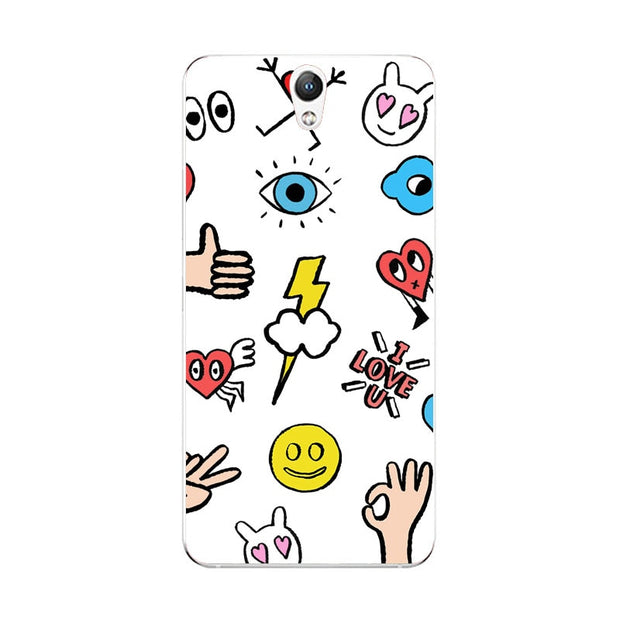 Lenovo Vibe S1 Case,Silicon Cartoon Painting Soft TPU Back Cover For Lenovo Vibe S1 Lite Phone Fitted Case Shell