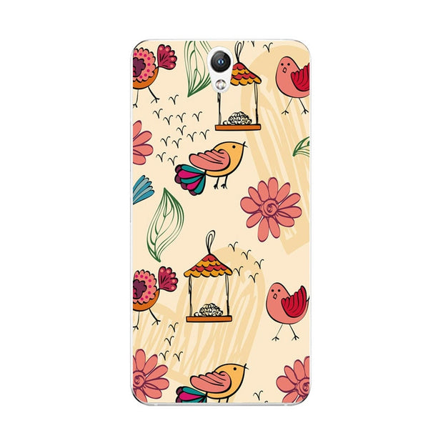 Lenovo Vibe S1 Case,Silicon Colorful Plant Painting Soft TPU Back Cover For Lenovo Vibe S1 Lite Phone Fitted Case Shell