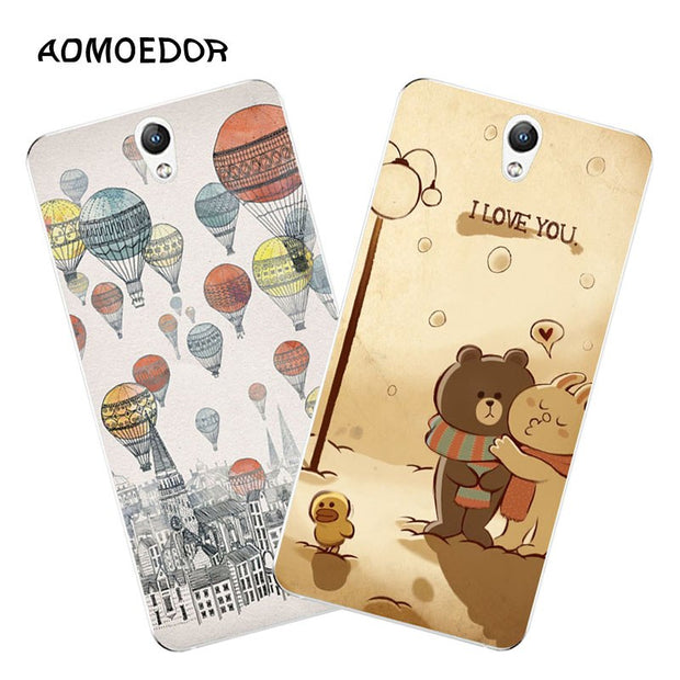 Lenovo Vibe S1 Case,Silicon Fashion Cartoon Painting Soft TPU Back Cover For Lenovo Vibe S1 Lite Phone Fitted Case Shell