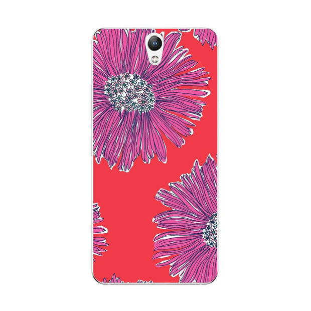 Lenovo Vibe S1 Case,Silicon Flowers Plant Painting Soft TPU Back Cover For Lenovo Vibe S1 Lite Phone Fitted Case Shell