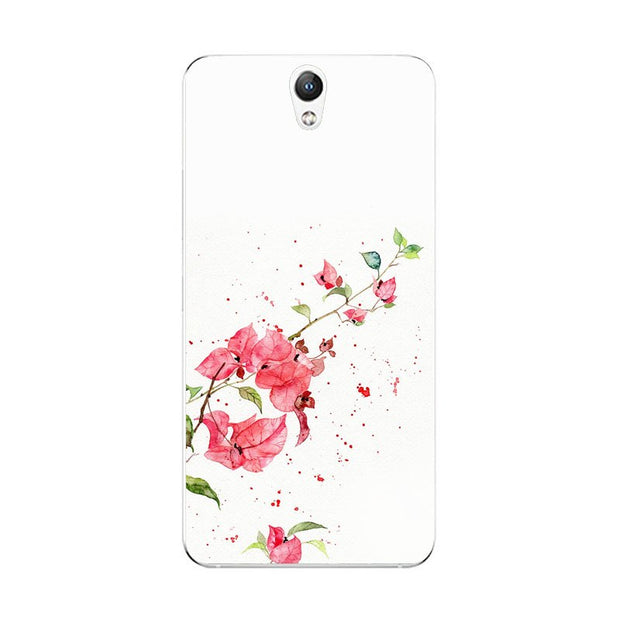 Lenovo Vibe S1 Case,Silicon Flowers 3D Relief Painting Soft TPU Back Cover For Lenovo Vibe S1 Lite Phone Fitted Case Shell