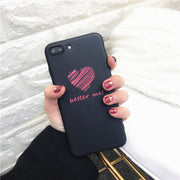 Love Heart Painted Phone Case For Iphone XS Max XR X Case Fashion Cute Back Cover For Iphone 8 7 6 6s 5 5s Se Cases Matte Capa