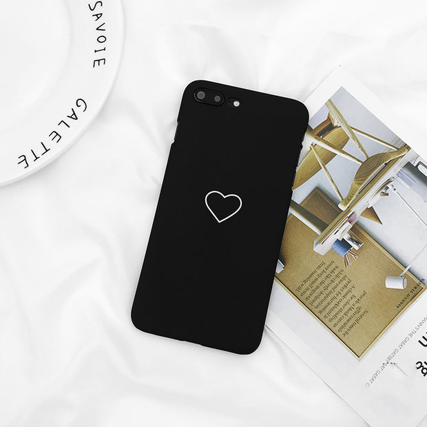 Lovebay Phone Case For IPhone X 8 7 6 6s Plus 5 5s SE Fashion Couples Graffiti Love Heart Ultra Hard PC Cover Cases For IPhone 8
