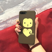 Lovely Cartoon Bear&Panda Phone Case For Iphone 6 6s 6puls Slim Hard PC Back Cover For Iphone 7 7puls Capa Coque Fundas