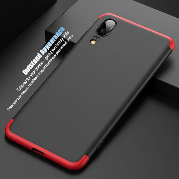 LuckGuard Original 360 Degree Full Protective Case Cover For Huawei P20 Pro P20 Slim Hard Back Cover For Huawei P20 Lite Nova 3E