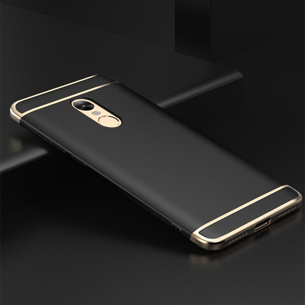 Luxury 3 In 1 Case Rose Gold Plating Phone Case For Xiaomi Redmi Note 4X Back Cover Coque Bag For Redmi Note 4X