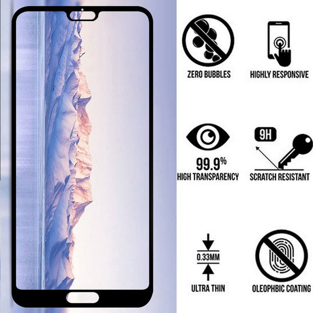 Luxury 6D Tempered Glass Phone Case For Huawei P20 Lite NOVA3E Screen Protective Film Front Cover For Huawei P20 Pro Cases Coque