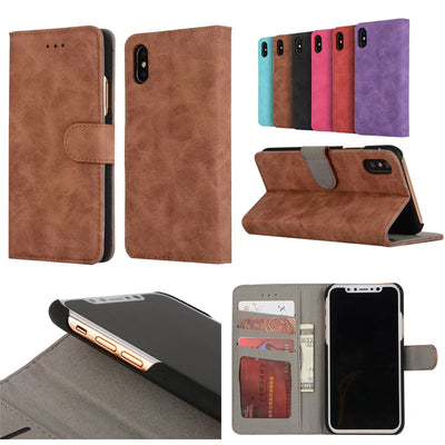 Luxury Business Retro Flip Leather Cases For Apple IPhone X 7 6 6s 8 Plus Wallet Card Phone Case For IPhone 7 6s 6 8 X Cover