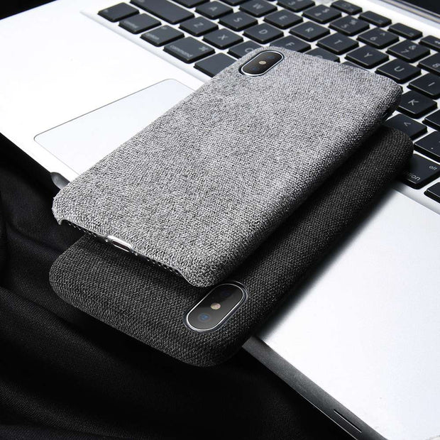 Luxury Cloth Phone Case For IPhone X 8 7 6S 6 Plus Cover Ultra Thin Fashion Stylish Hard PC Back Cover For IPhone X 10 8 7 Case