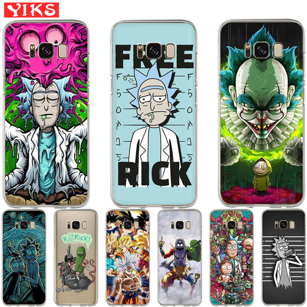 Luxury DragonBall Rick And Morty Case For Samsung S8 S9 S10 Plus ...