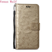 Luxury Embossing PU Leather Case For Nokia 3 TA-1032 TA-1020 5 6 8 Printed Horse Clouds Pattern Cover For Nokia 3 5 6 8 Phone