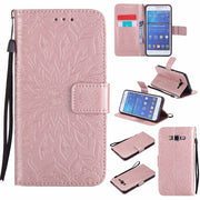 Luxury For Coque Samsung Galaxy Grand Prime Case G530 G530H G531 G531H G531F SM-G531F Wallet Flip Cover With Card Slots Holder