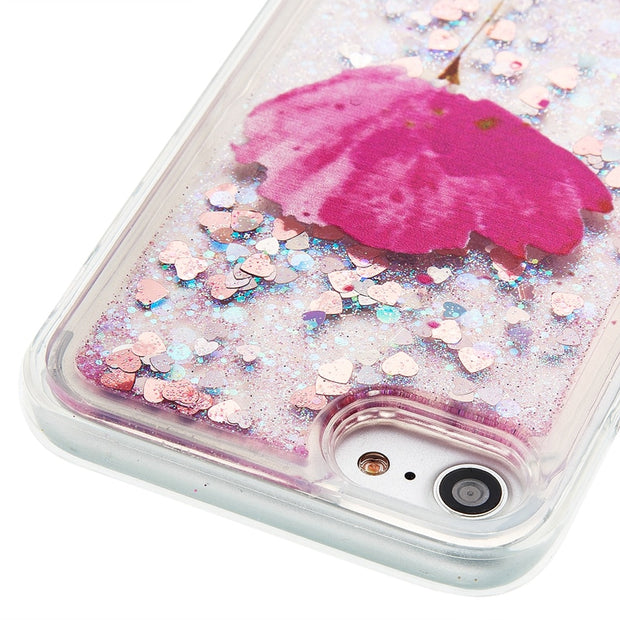 Luxury Glitter Liquid Quicksand Soft TPU Silicon Phone Cover Shell Coque For IPhone 4 4S 5 5S SE 5C 6 6S 7 8 Plus Touch 5 6 Case