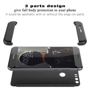 Luxury Hard PC Case For Huawei Honor 8 9 6x Mate 9 P8 Lite P9 P10 PLUS Case 3 In 1 Bumper Cover Black Ultra Thin 360 Protection