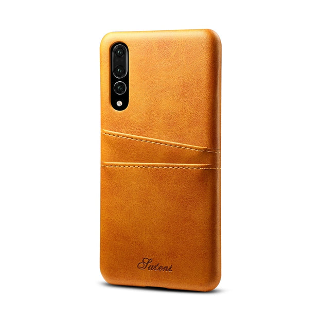 "Luxury PU Leather Case For Huawei P20 5.8"" Ultra Thin PU Back Case Cover For Huawei P 20 Pro Cellphone Retro Skin Case Shell"
