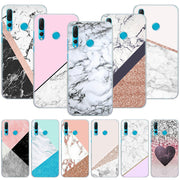 Luxury Pink Marble Line Phone Case Cover For Huawei Nova 2i 3 3e 3i 4 Mate 10 20 Lite P20 Pro P20 Lite Hard PC Phone Cases
