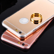 Luxury Plating Mirror Phone Cases For IPhone 6 Plus Ultra Thin Soft TPU Gold Case For Apple IPhone 6S Plus Mobile Cover Silver