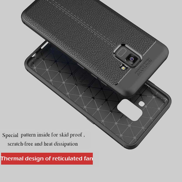 Luxury Soft TPU Case For Samsung Galaxy A3 A5 A7 2017 2018 Leather Design Protective Back Cover For Samsung A320 A520 A720 Case