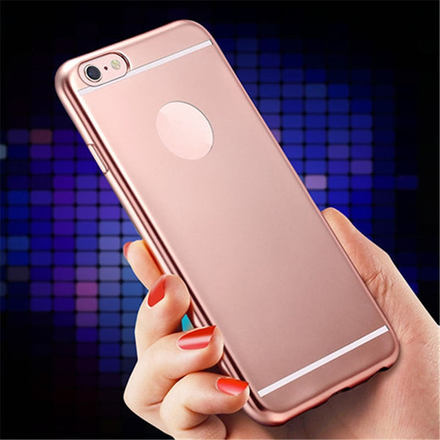 Luxury Soft TPU Reflection Mirror Phone Protective Case Back Cover For IPhone 5 6 6Splus 7 7plus SE For Samsung S7 S7Edge