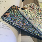 Luxury Sparkle Glitter Phone Case For Iphone X 8 7 Plus Plus Ultra Thin Soft PU Leather Colorful Cover For IPhone 6 6S 6Plus