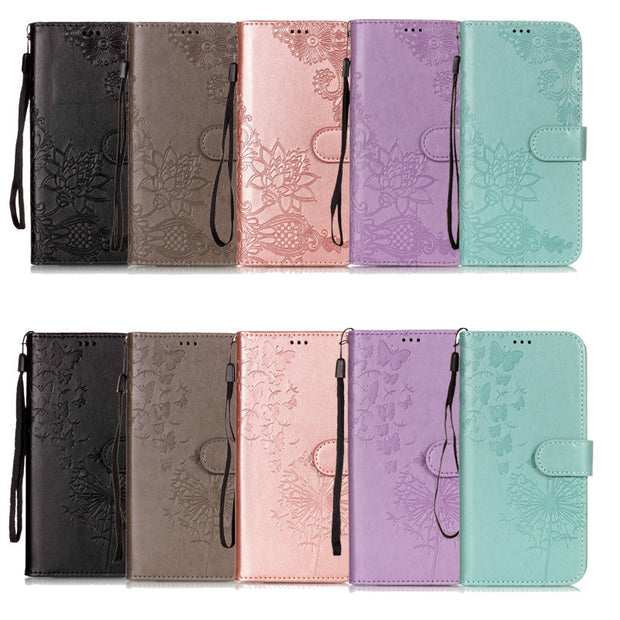 Luxury Wallet Etui For Coque IPhone 8Plus Case 7Plus 3D Print Wallet Flower For Apple IPhone 7 8 Plus Flip Cover IPhone7 IPhone8