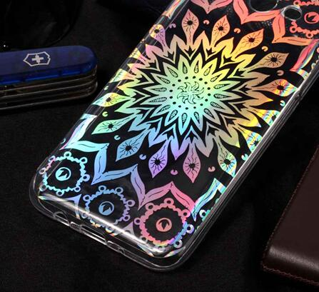 Luxury Laser Flower Cute Bear Soft TPU Silicone Phone Case For Sony Xperia L2 H4311 For Coque Sony L1 Sony G3312 3311 3313 Cover