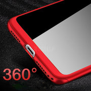 Luxury Steel Flim 360 Degree Protection Cases For Iphone X 7 8 Plus Coque Tempered Glass Screen For Iphone X 6 6s Plus Cover