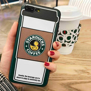 MA The Cute Duck Coffee Cup Fashion Woman Ins Hot Style Phone Case For Iphone5 5S SE 6 6S 7 8 Plus X XS XR XS Max Soft Cover