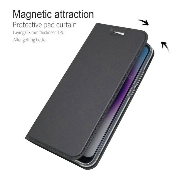 Magnetism Flip For Huawei Y5 2018 Case Leather Cover For Huawei Y6 2018 Case Plain Protection Phone Cases For Huawei Y9 2018