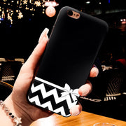 MaiYaCa Black And White Stripe Love Bridge Black Soft TPU Silicone Phone Case For IPhone 5s 6s 7 Plus 8 8plus X Case Phone Cover