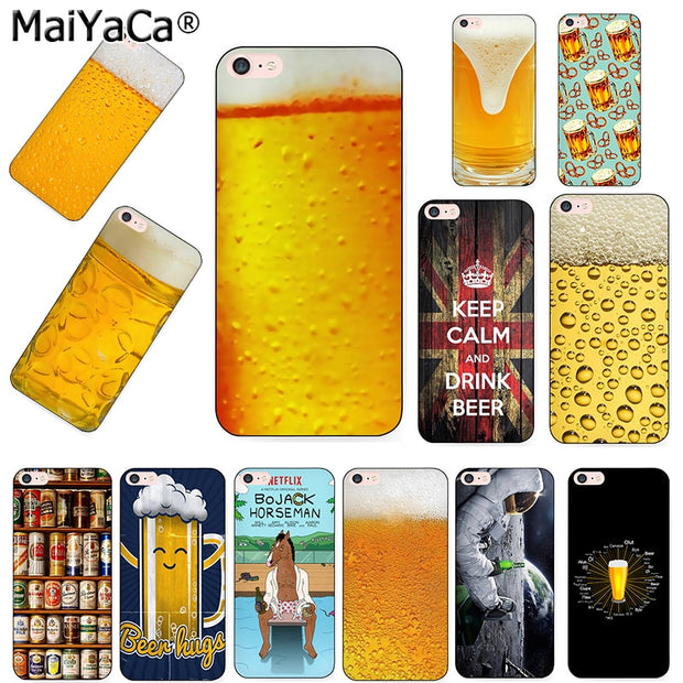 MaiYaCa Black Tpu Silicone Phone Case For IPhone 8 8plus X Case Drink Bear Cover For Case IPhone 5s 6s 6splus 7 7plus Funda