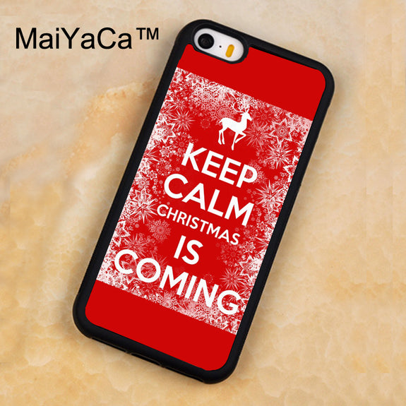 Keep Calm Christmas Is Coming.Maiyaca Keep Calm Christmas Is Coming Case For Iphone 5 5s Protective Soft Rubber Back Cover For Iphone Se Mobile Phone Bag Case