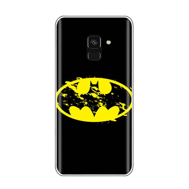 Marvel Symbo Batman Deadpool Daredevil Punisher Black Widow Logo Phone Case For SamSung A6 2018 S6 S7 Edge S8 S9 Plus A5 J1 Case