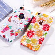 Matcheasy Cute Fruit Phone Case For Iphone 8 7 6S 6 Plus Cover Capa Breathing Net Dot Hard PC Fitted Case For Iphone X 10 Cover
