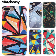Matcheasy Fitted Case For IPhone 7 8 Plus X Abstract Geometric Patterned Back Cover For IPhone X 6 6S Plus Case Anti-knock Coque