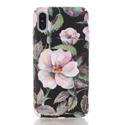 Matcheasy Matt Marble Stone Flower Pattern Cover For Iphone X Fitted Case For Iphone 6 6S 7 8 Plus Hard PC Case For 7Plus Coque