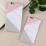 Matcheasy Matt Marble Stone Pattern Cover For Iphone X Fitted Case For Iphone 6 6S 7 8 Plus Hard PC Case For Iphone 7Plus Coque