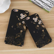 Matcheasy Retro Flower Hard PC Case For Iphone X 10 Fitted Case For Iphone 6S 6 7 8 Plus Cover Luxury Matt Floral Phone Cover