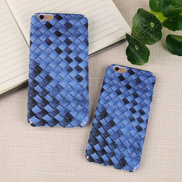 Matcheasy Weave Knit Pattern Case For Iphone X Fitted Case For Iphone 6 6s 7 8 Plus Phone Cover Capa Hard PC Back Cover Coque