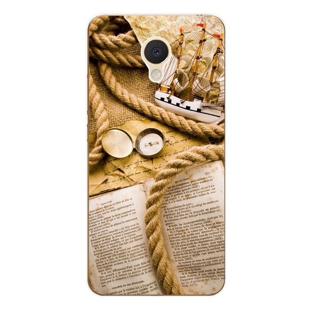Meizu M5c Case,Silicon Antique Items Painting Soft TPU Back Cover For Meizu M5c Phone Protect Case Shell