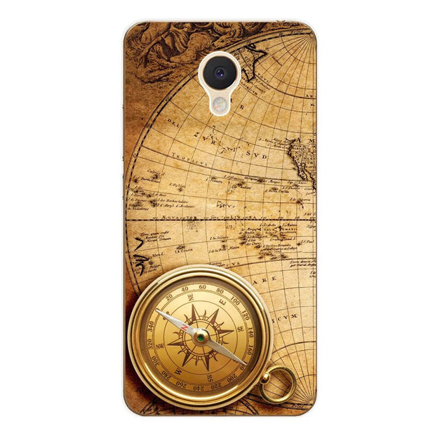 Meizu M5c Case,Silicon Antique Items Painting Soft TPU Back Cover For Meizu M5c Phone Fitted Case Shell