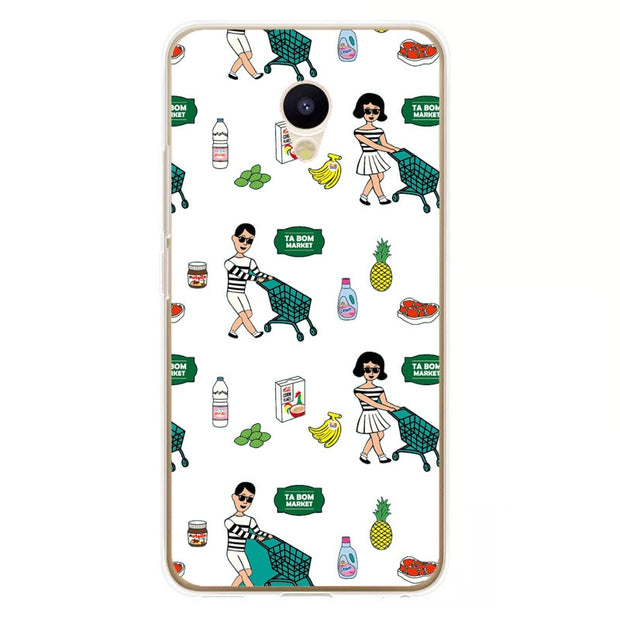 Meizu M5c Case,Silicon Cartoon Painting Soft TPU Back Cover For Meizu M5c Phone Protect Case Shell
