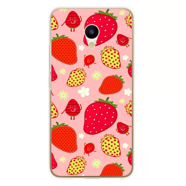 Meizu M5c Case,Silicon Colorful Food Painting Soft TPU Back Cover For Meizu M5c Phone Protect Case Shell