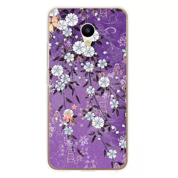 Meizu M5c Case,Silicon Colorful Plant Painting Soft TPU Back Cover For Meizu M5c Phone Fitted Case Shell
