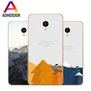 Meizu M5c Case,Silicon Landscape Painting Soft TPU Back Cover For Meizu M5c Phone Fitted Case Shell