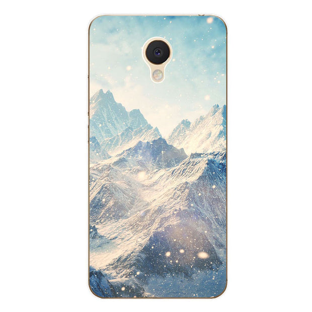 Meizu M5c Case,Silicon Scenery Painting Soft TPU Back Cover For Meizu M5c Phone Fitted Case Shell